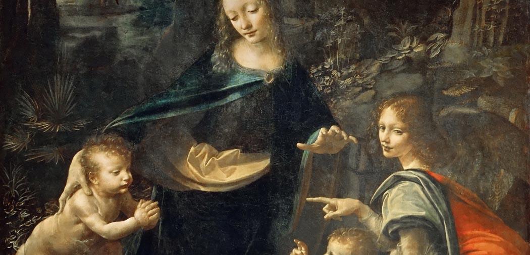 Artkids Atelier, atelier d'arts plastiques, la Vierge aux rochers de Léonard de Vinci