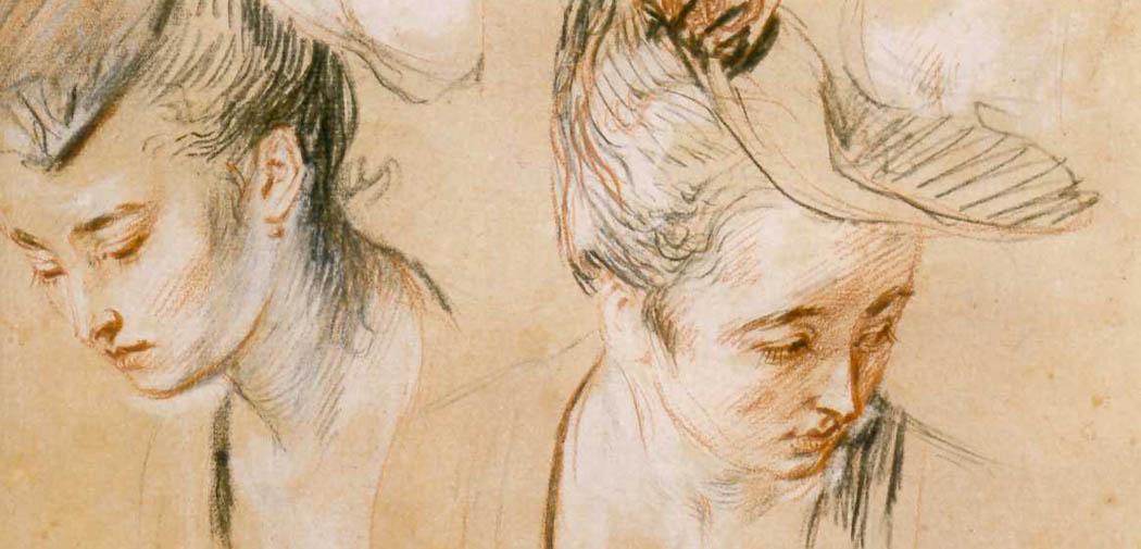 Artkids Atelier, atelier d'arts plastiques, étude de têtes aux trois crayons de Watteau