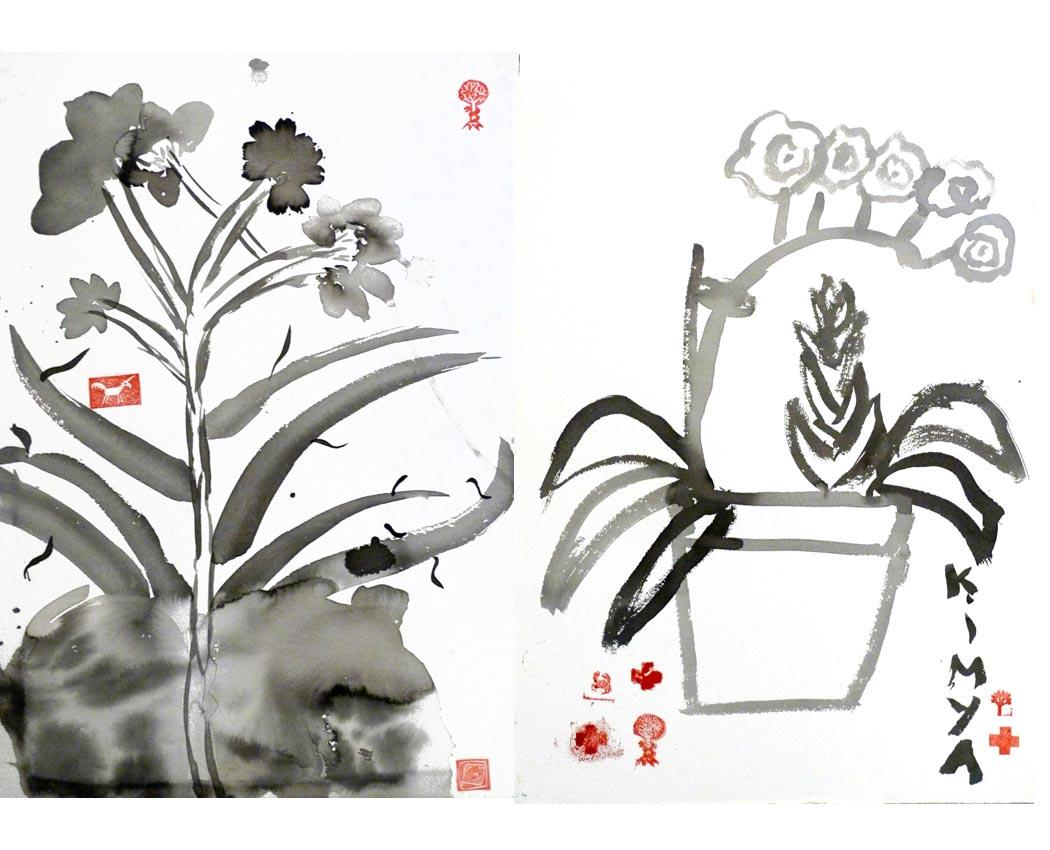 Artkids Atelier, travaux des Kids 2014 - 2015, peintre à l'encre